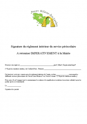 signature du reglement